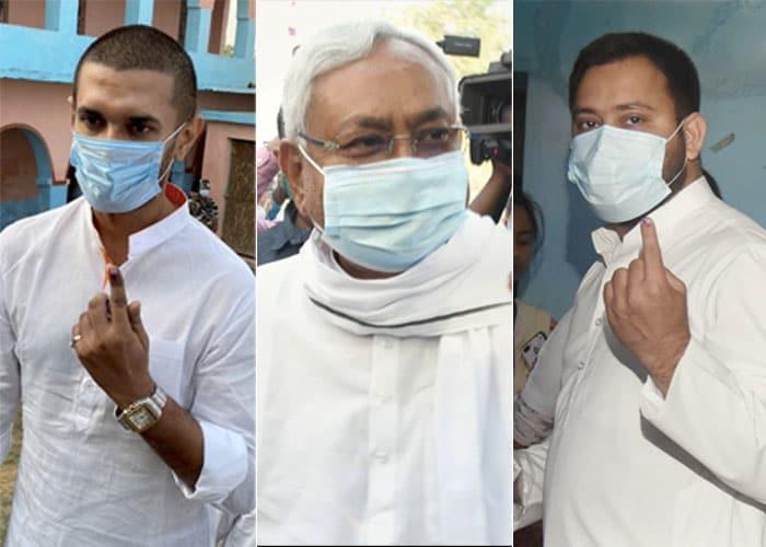 Photo : Bihar election 2020: मुख्यमंत्री नीतीश, चिराग पासवान, तेजस्वी समेत इन दिग्गजों ने डाला वोट