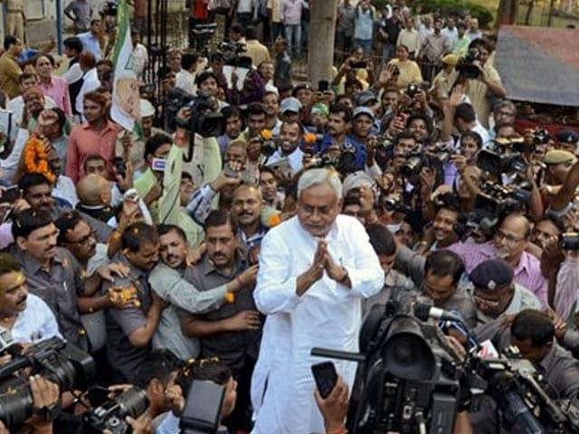 Photo : 5 Defining Images From Bihar Verdict