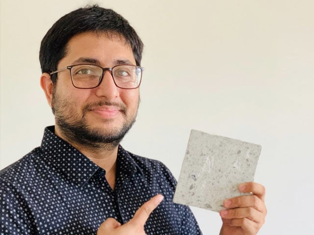 Photo : Remember The Face Mask You Tossed In A Dustbin? This 27-year-old Has Converted It Into A Brick