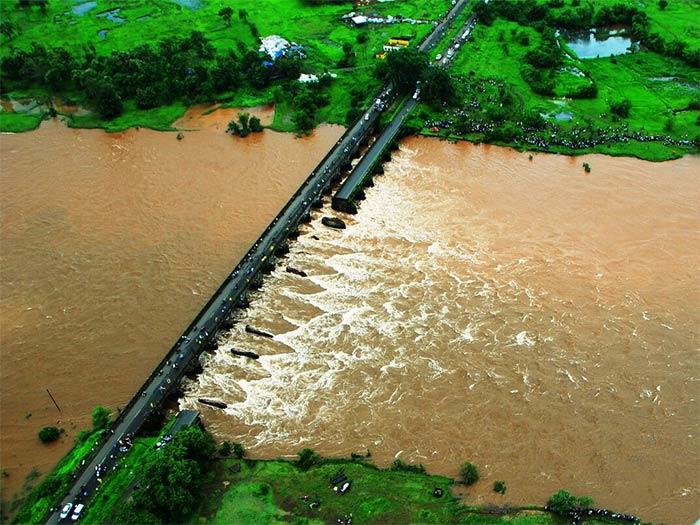 Pics: British-Era Bridge Collapses On Mumbai-Goa Highway Due To Heavy Rain