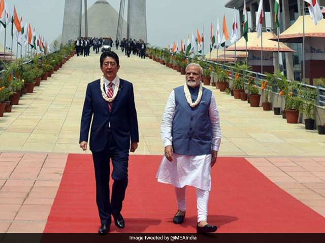 Photo : PM Modi, Abe Launch Bullet Train Project: Day 2 Of Japan PM Visit