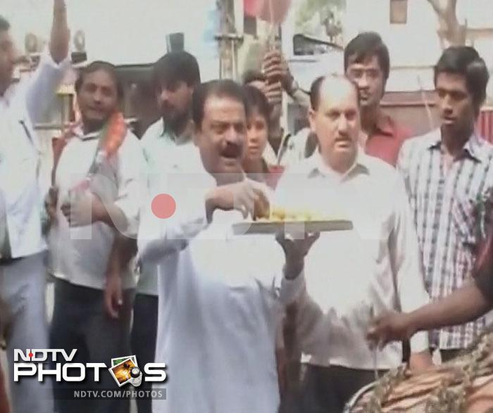 Samajwadi Party, BJP celebrate