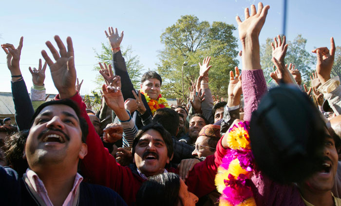 Congress celebrates in Himachal Pradesh