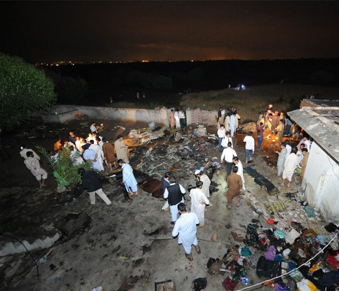 First Pics: Plane crashes near Islamabad airport, 127 feared killed
