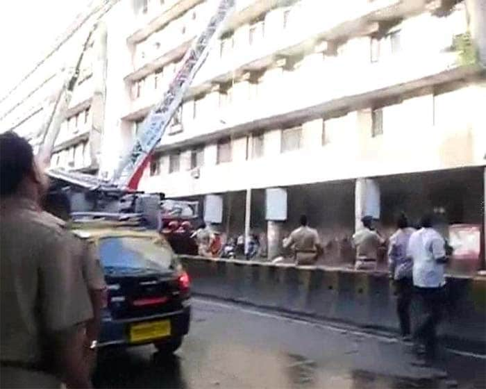 Fire in Rush Hour at Mumbai\'s Main Train Station, CST