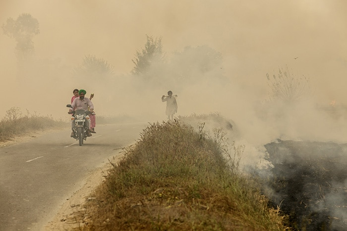 In Pictures: From Punjab\'s Burning Fields To Choking Delhi