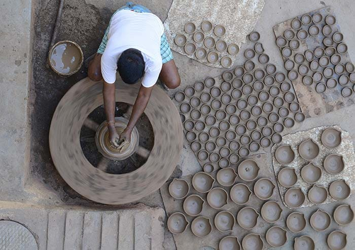 Artists Make Diyas and Idols Ahead of Diwali