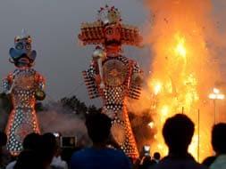 Photo : India celebrates Dussehra with fervour