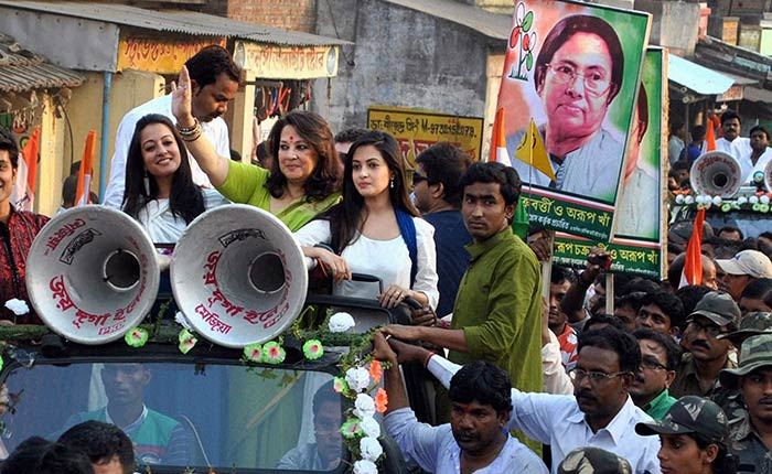 Celebrities campaign for Elections 2014