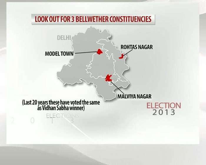 Look out for three bellwether constituencies