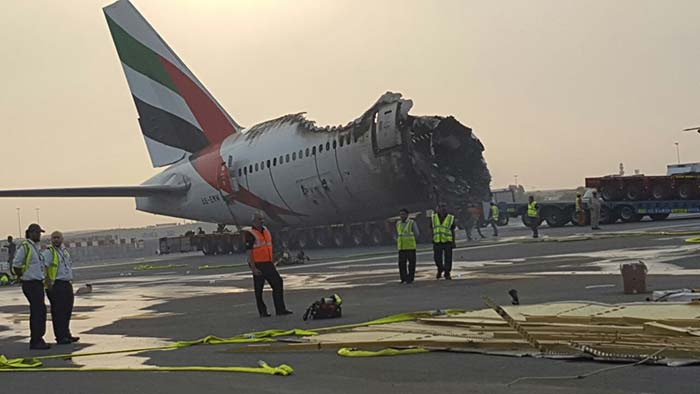 A Close Look At The Emirates Plane That Crash-Landed In Dubai