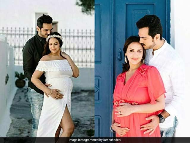 Photo : बेबी बंप फ्लॉन्ट करती दिखीं ईशा देओल, पति के साथ करवाया मैटरनिटी फोटोशूट