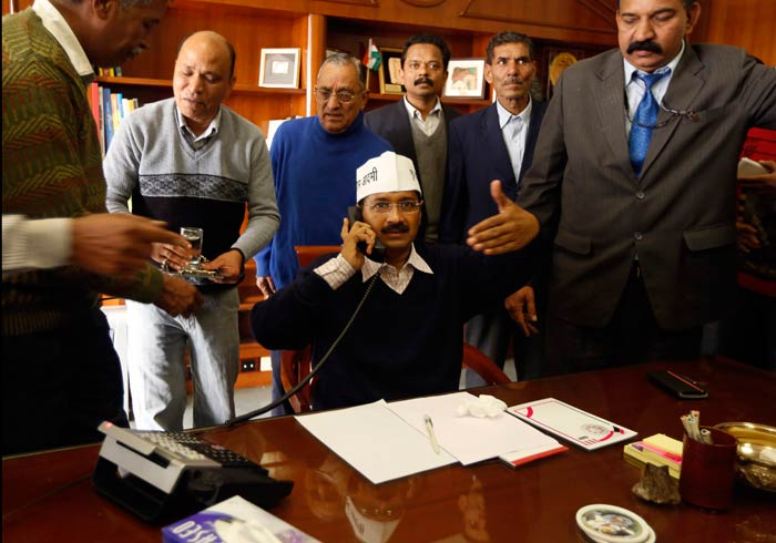 From metro to cabinet meet, this was Arvind Kejriwal\'s day