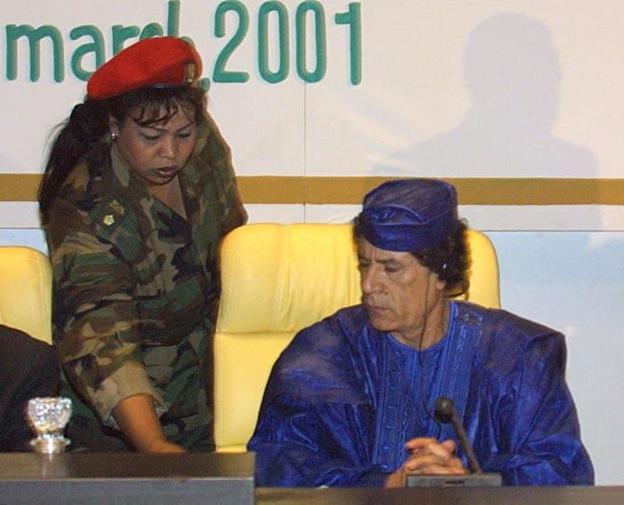 Gaddafi\'s female bodyguards