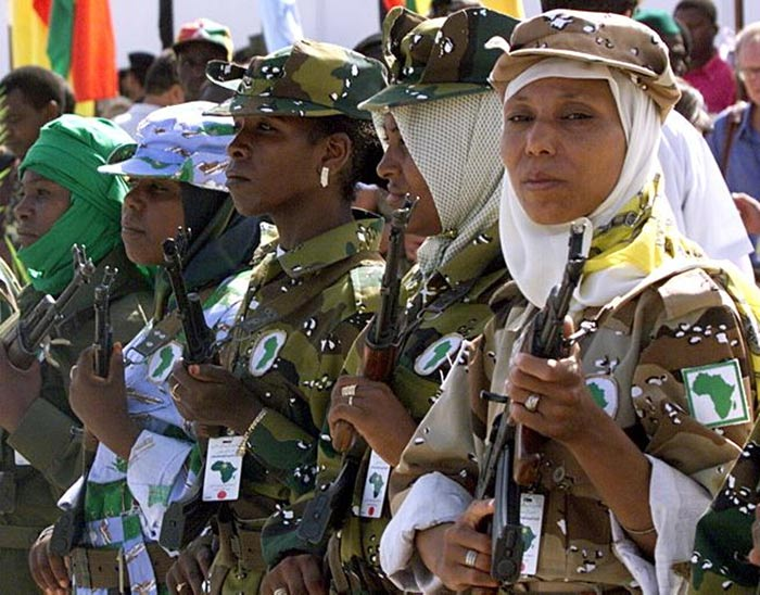Image result for Muammar Gaddafi with black libyans