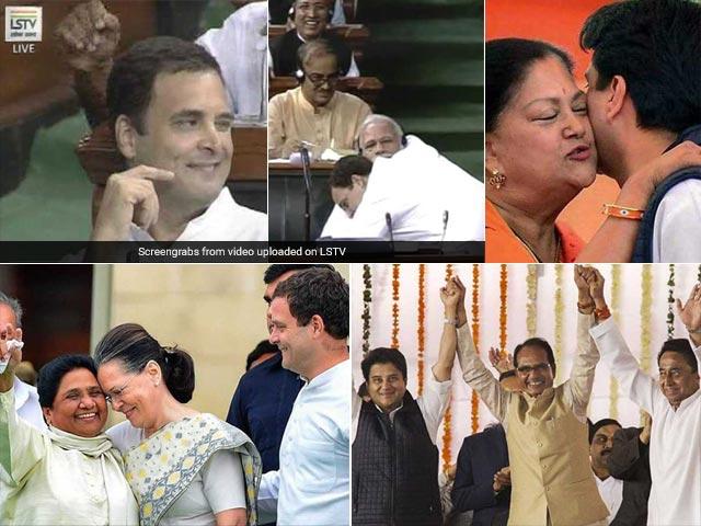 Photo : Yearender 2018: जब पीएम मोदी से गले मिले राहुल और फिर मारी आंख, राजनीति से जुड़ी दुर्लभ तस्वीरें