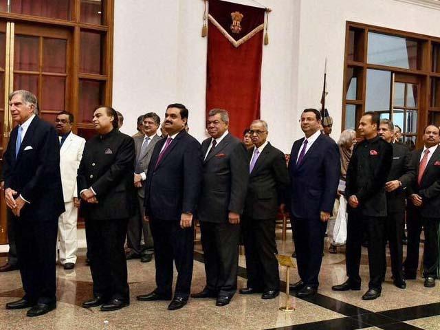 Photo : Getting Down To Business: President Obama, PM Modi Meet Top CEOs