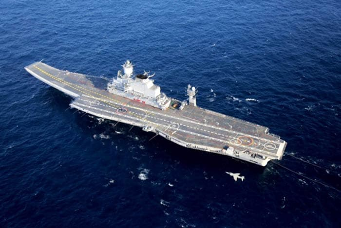 India\'s biggest ship, aircraft carrier INS Vikramaditya, finally arrives