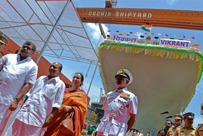 INS Vikrant, India\'s first indigenous aircraft carrier, launched