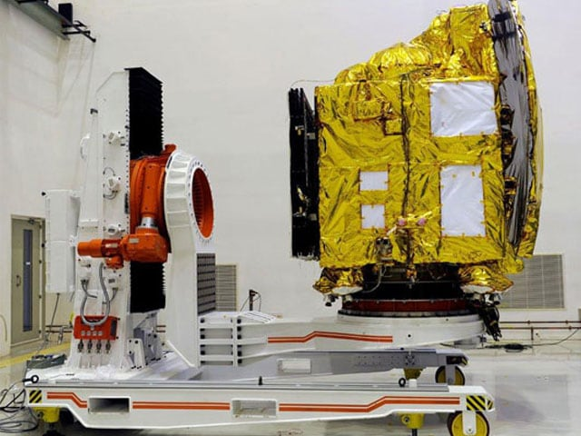 Photo : First pics: Mangalyaan at space port