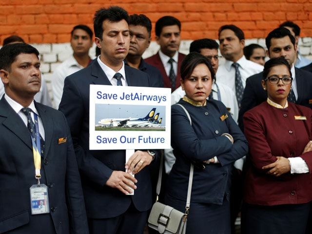 Photo : Tears, Anger As Employees Launch Protest To 'Save Jet Airways'