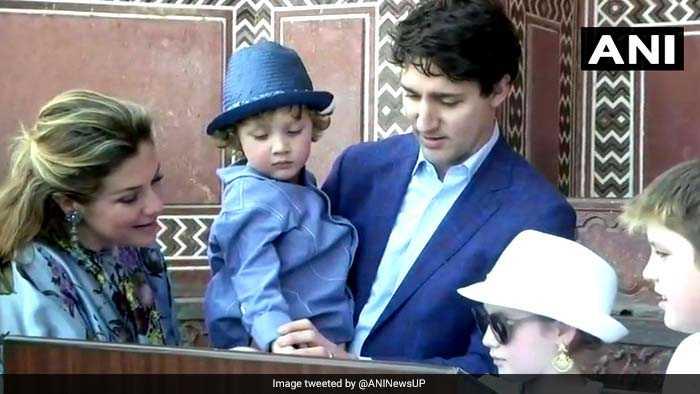 Photos: Justin Trudeau Kicks Off India Tour With Family Visit To The Taj Mahal