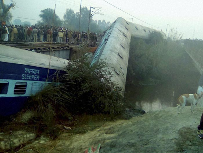 In Pics: Sealdah-Ajmer Express Derails Near Kanpur, Many Injured