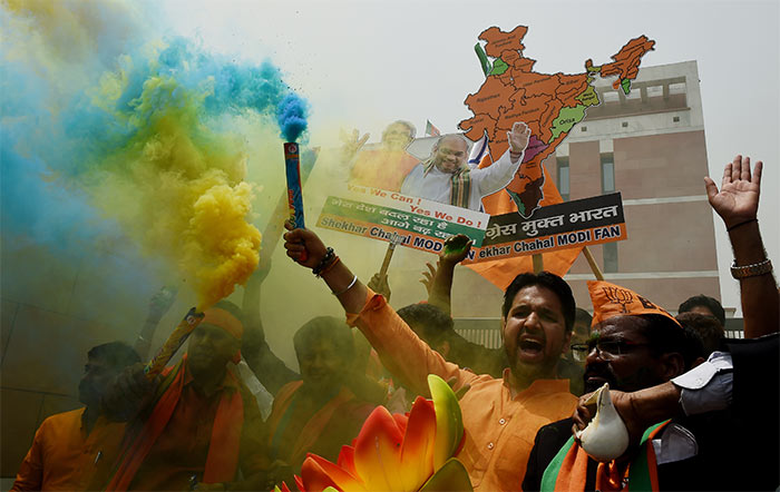 From Karnataka To Delhi, BJP Celebrates After It Emerges As The Single Largest Party