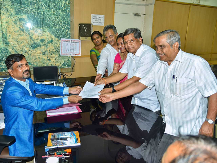In Pictures: Candidates File Nominations For The Upcoming Karnataka Assembly Elections