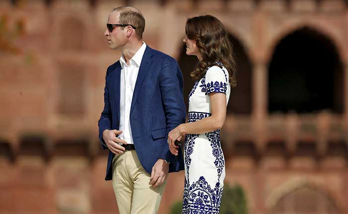 Willam and Kate, British Royalty At The Taj Mahal In Agra