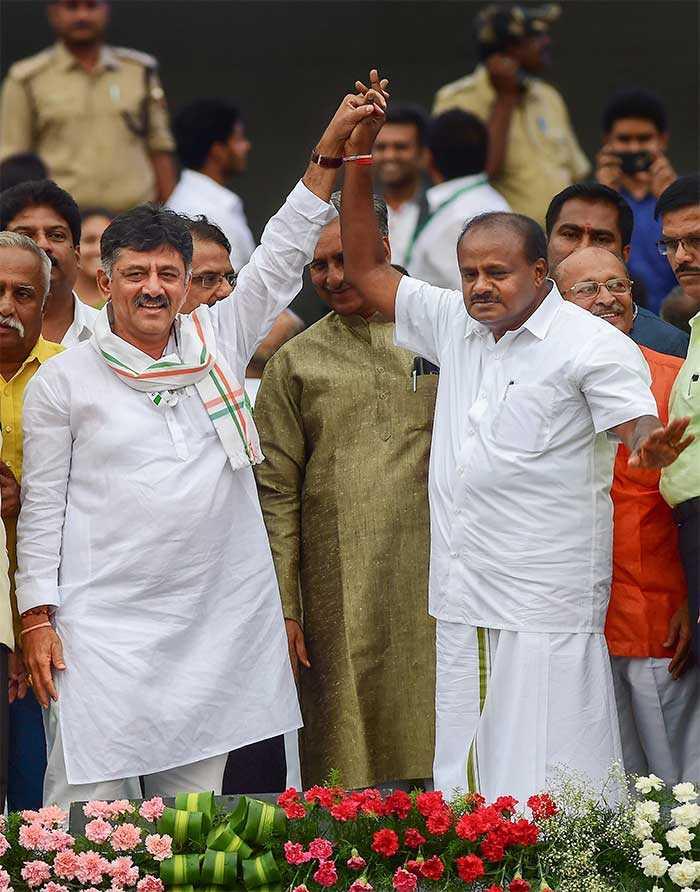 HD Kumaraswamy Sworn In As Karnataka Chief Minister