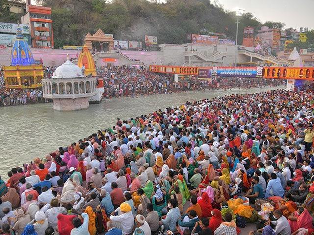 Photo : कुंभ 2021: दूसरे शाही स्नान में श्रद्धालुओं की उमड़ी भीड़, देखें तस्वीरें...