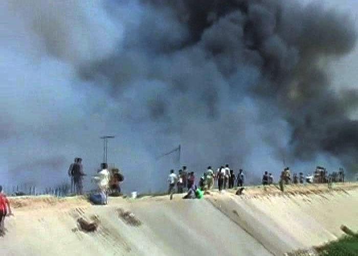 Massive fire in North Delhi