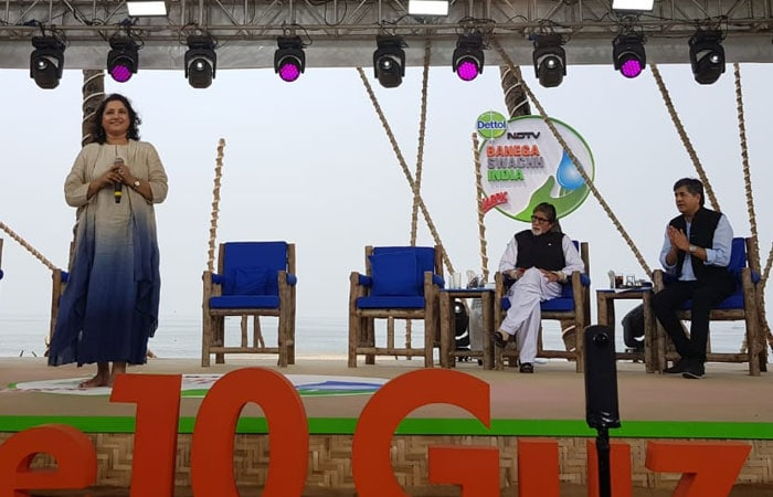 Ministers And Celebrities At The 12-hour-live Banega Swachh India Cleanathon