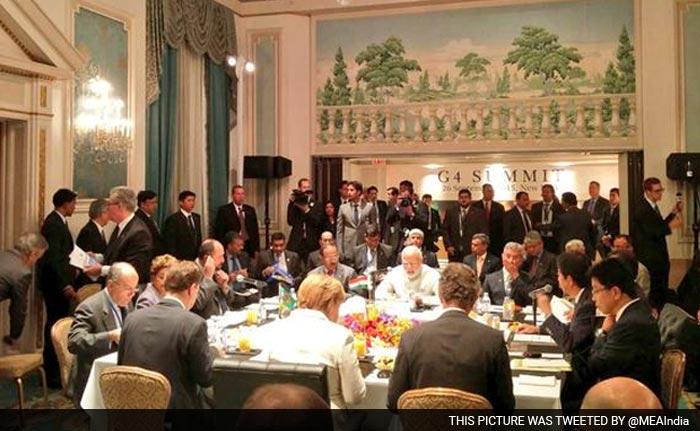 PM Modi Hosts Germany, Japan and Brazil at G4 Summit