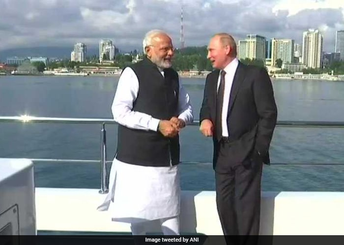 The two leaders took a ride on a yacht in Sochi following their informal meeting
