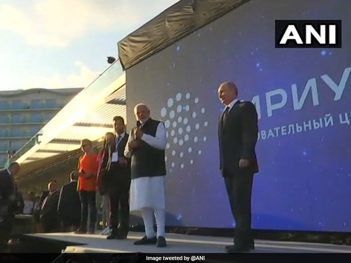 PM Modi also visited Sirius Educational Centre along with the Russian president.