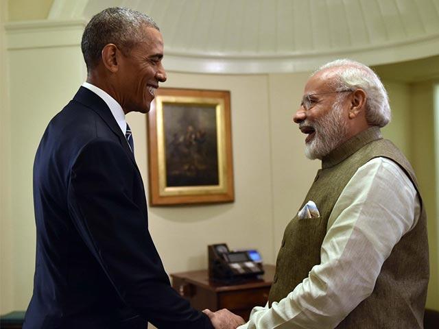Photo : गर्मजोशी से मिले अमेरिकी राष्ट्रपति बराक ओबामा और पीएम नरेंद्र मोदी...