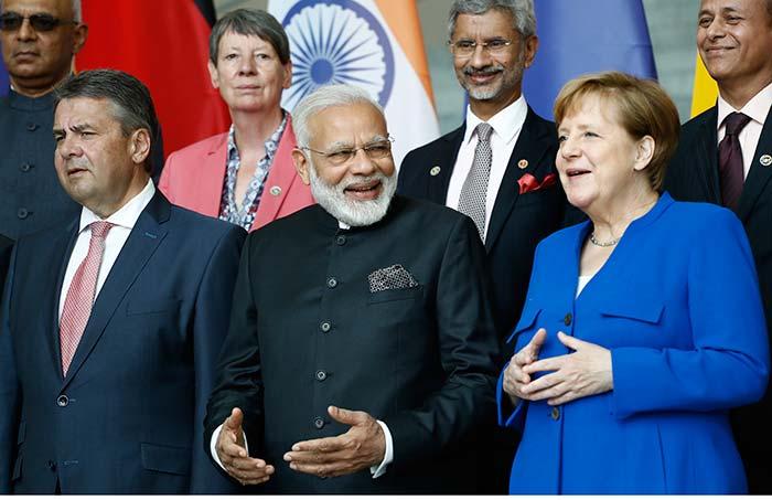 Pics: PM Modi Meets German Chancellor Angela Merkel, Gets Ceremonial Welcome
