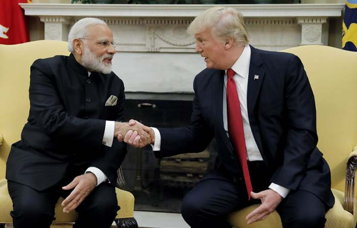 In Pics: PM Modi Greeted By Donald Trump With Handshake At White House