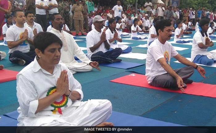 International Yoga Day Snapshots: PM, Ministers Perform Asanas