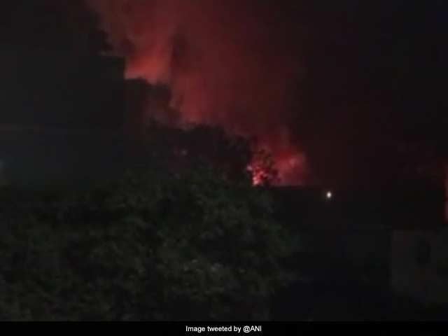 Photo : Massive Fire At Cinevista Studio In Mumbai's Kanjurmarg
