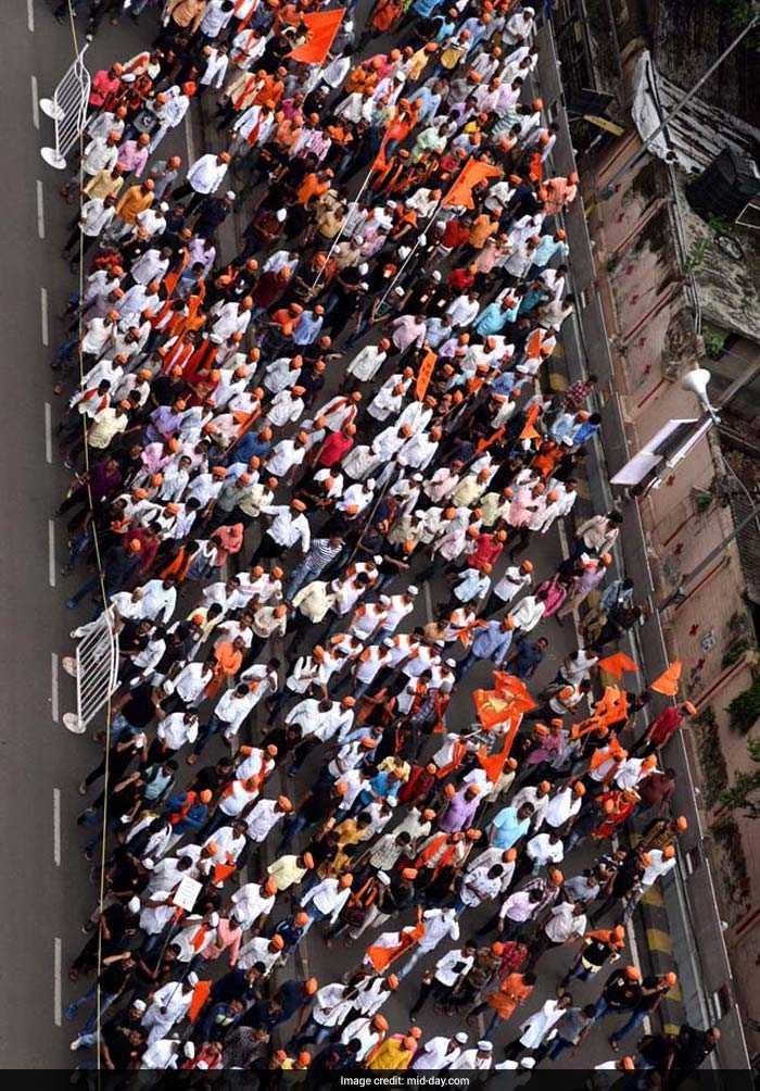 Pics: \'Maratha Kranti Morcha\' Protest Rally In Mumbai