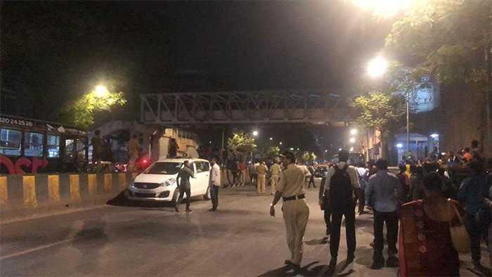 First Pics: Foot Ovebridge In Mumbai Collapses