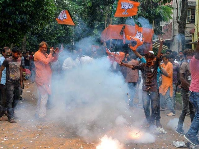 lok sabha election 2019 results, Celebration of BJP and NDA Win