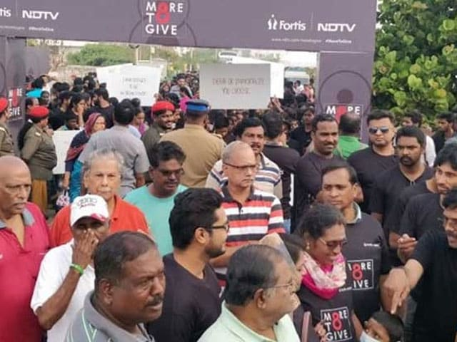 Photo : NDTV-Fortis More To Give- चेन्नई में ऑर्गन डोनेशन को लेकर फैलाई गई जागरूकता