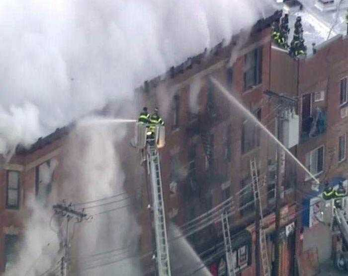 Huge Fire Breaks Out In New York Apartment Building: Pics