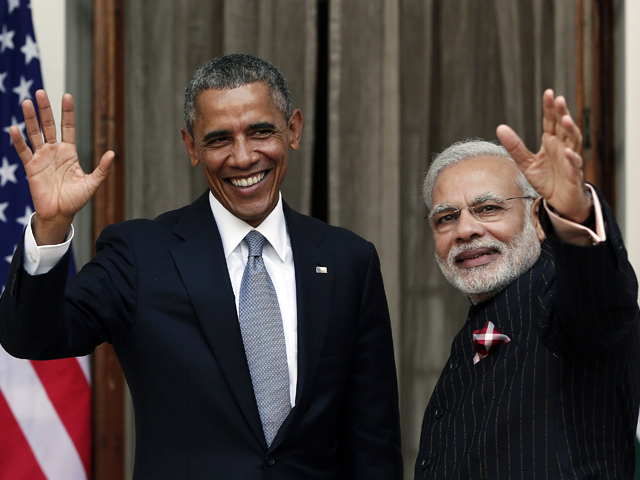 Photo : President Obama and PM Modi Meet at Hyderabad House For Bilateral Talks