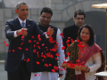 Photo : President Obama Pays Tribute to Mahatma Gandhi at Rajghat