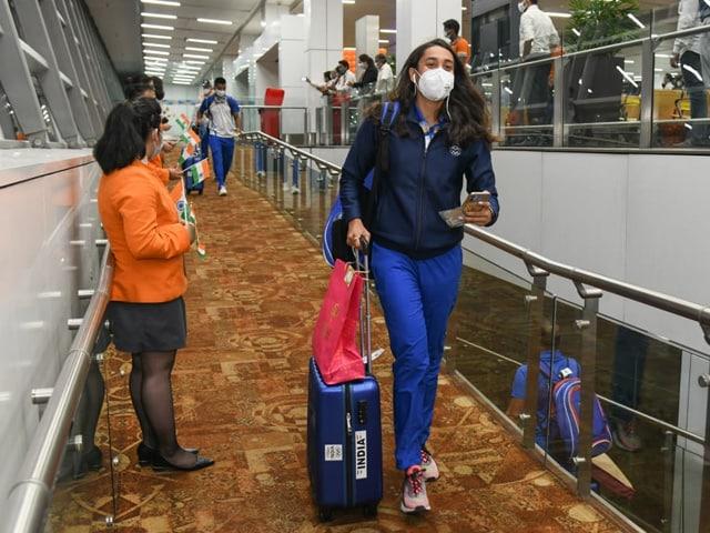 Photo : टोक्यो ओलंपिक में हिस्सा लेने के लिए भारतीय खिलाड़ी जापान पहुंचे, देखें तस्वीरें